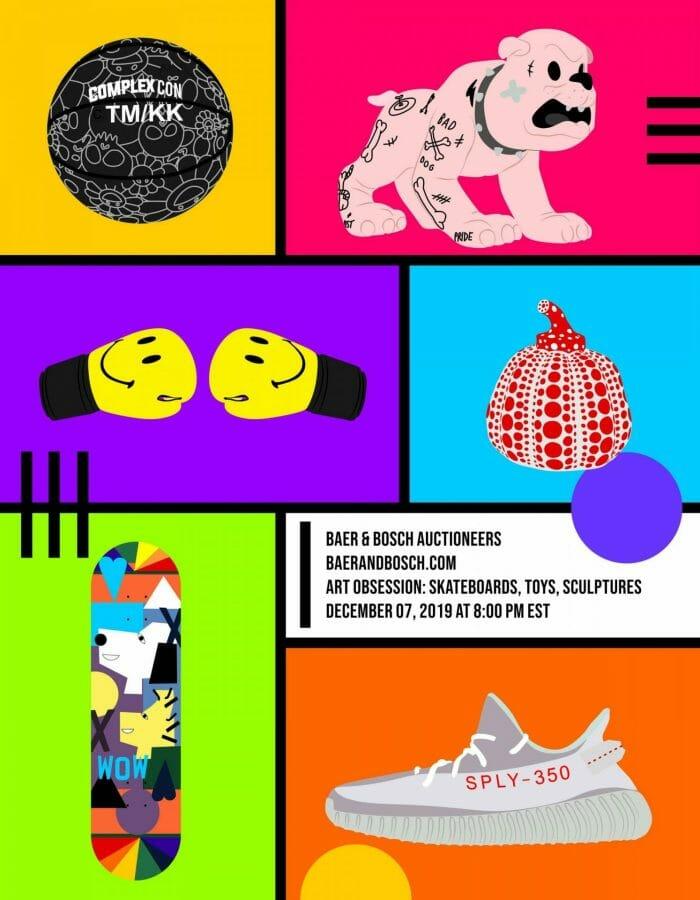 Art Obsession skateboard toys, sculpture